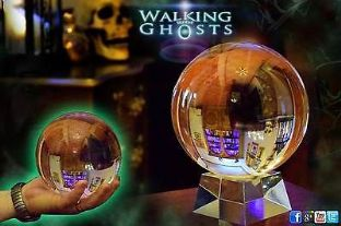 15cm Large Clear Crystal Ball Mystical Scrying Gazing Paranormal Fortune UK